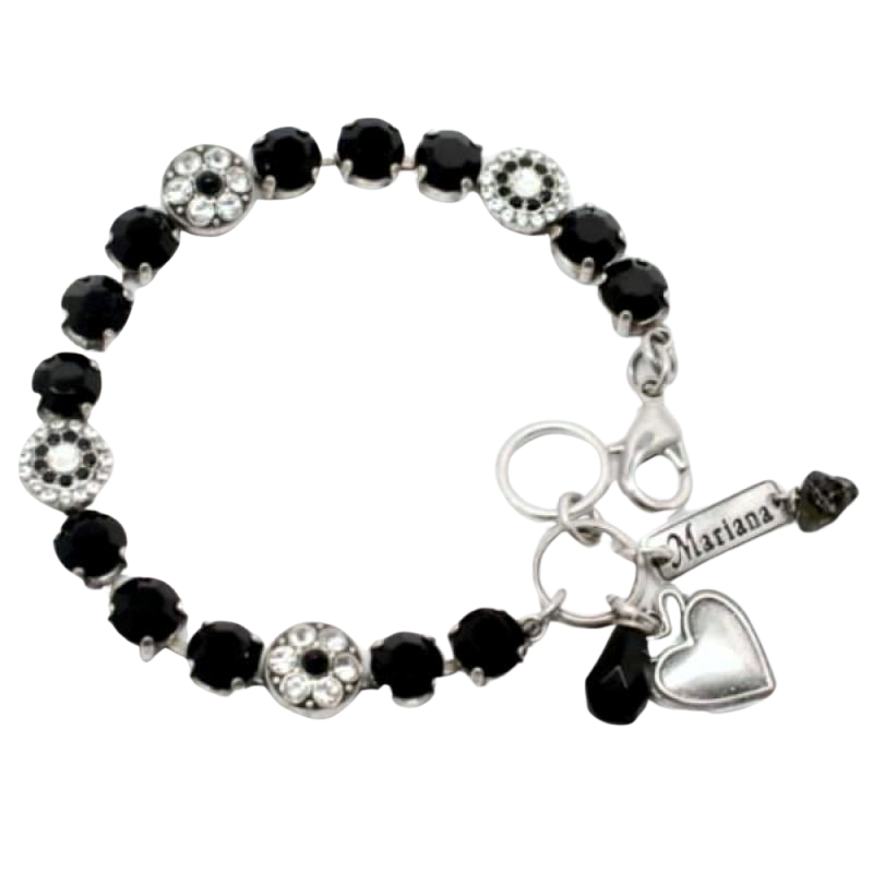 Checkmate Black and Clear Crystal Bracelet
