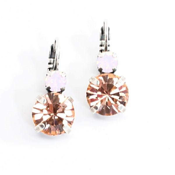 Afternoon Delight Large Double Crystal Earrings