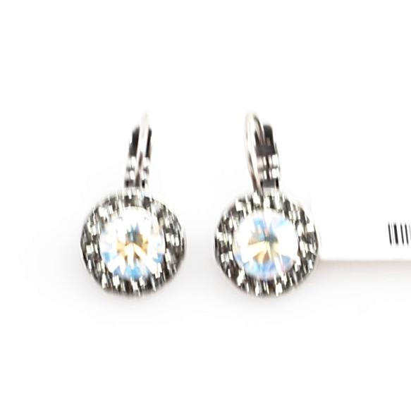 Ice Collection Round Crystal Earrings
