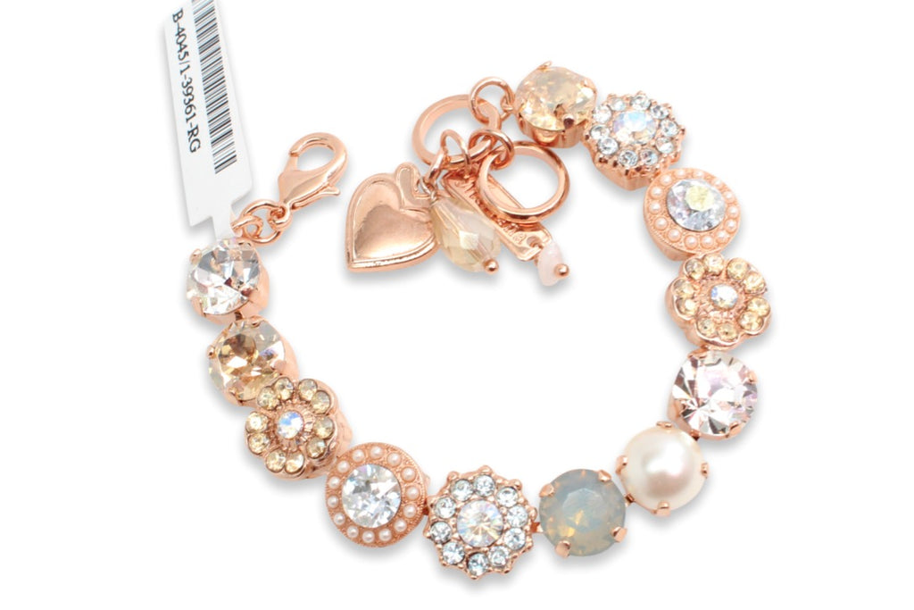 Seashell Collection Classic Crystal Bracelet in Rose Gold