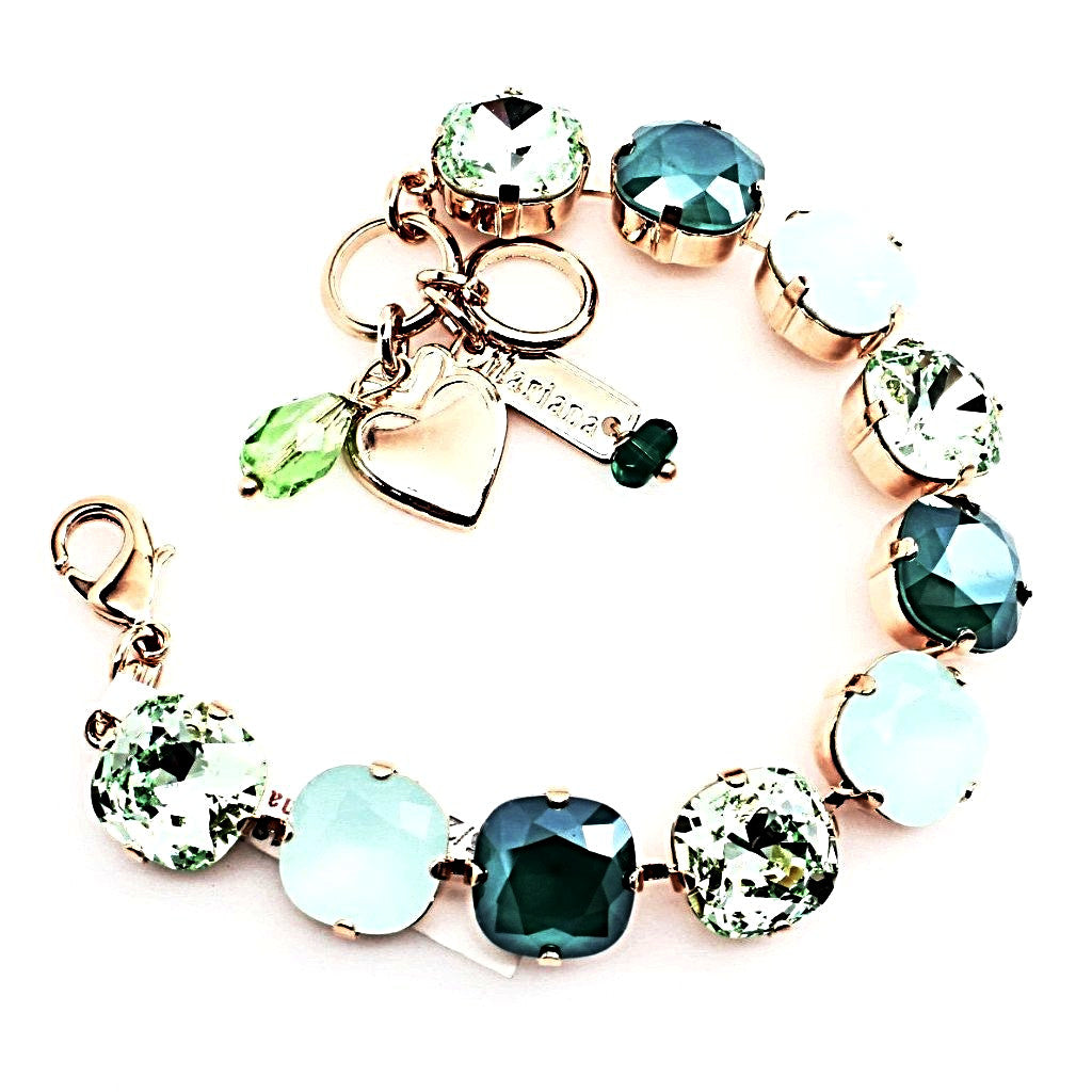 Fern Collection 12MM Square Crystal Bracelet in Rose Gold