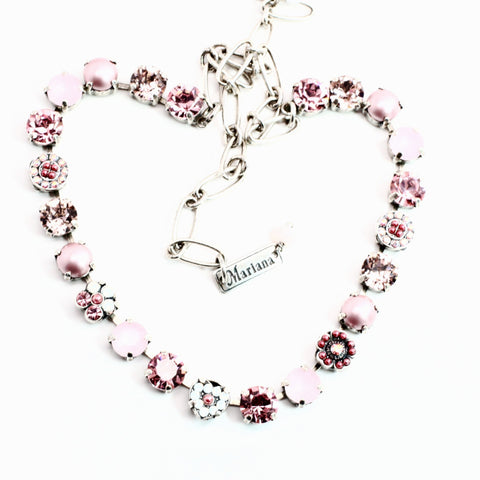 Antigua Collection Crystal Heart Necklace