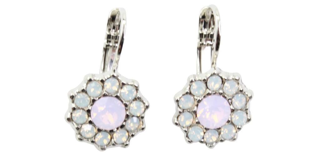 Snowflake Crystal Earrings in Rhodium