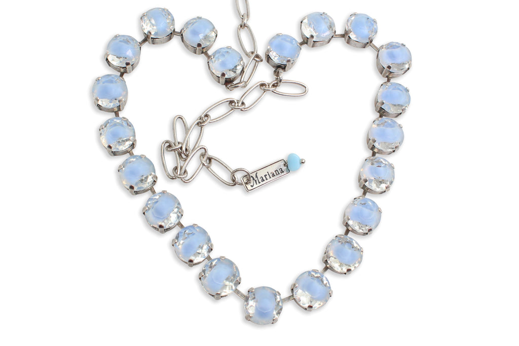 Blue Givre Large Crystal Necklace