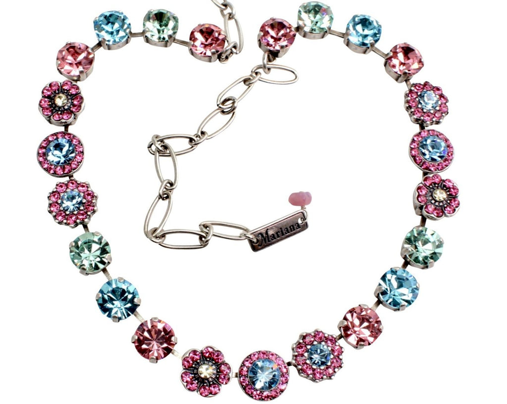 Spring Flowers Collection Large Crystal Necklace