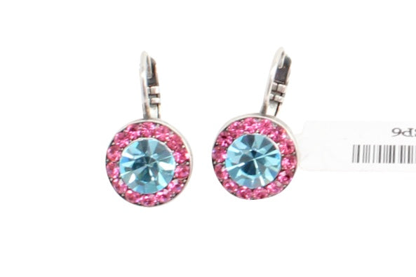 Spring Flowers Collection Round Crystal Earrings