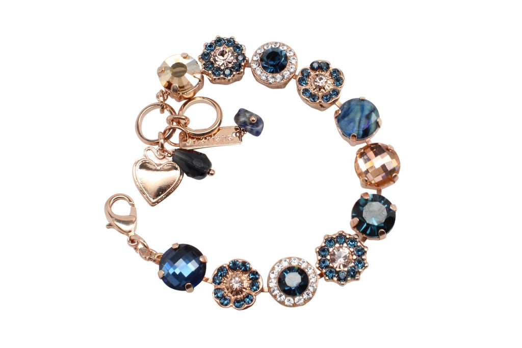 Ocean Collection Classic Crystal Bracelet in Rose Gold