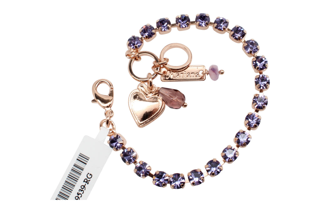 Tanzanite Petite Crystal Bracelet in Rose Gold
