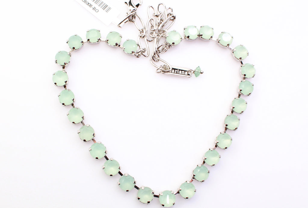 Seafoam Medium Crystal Necklace