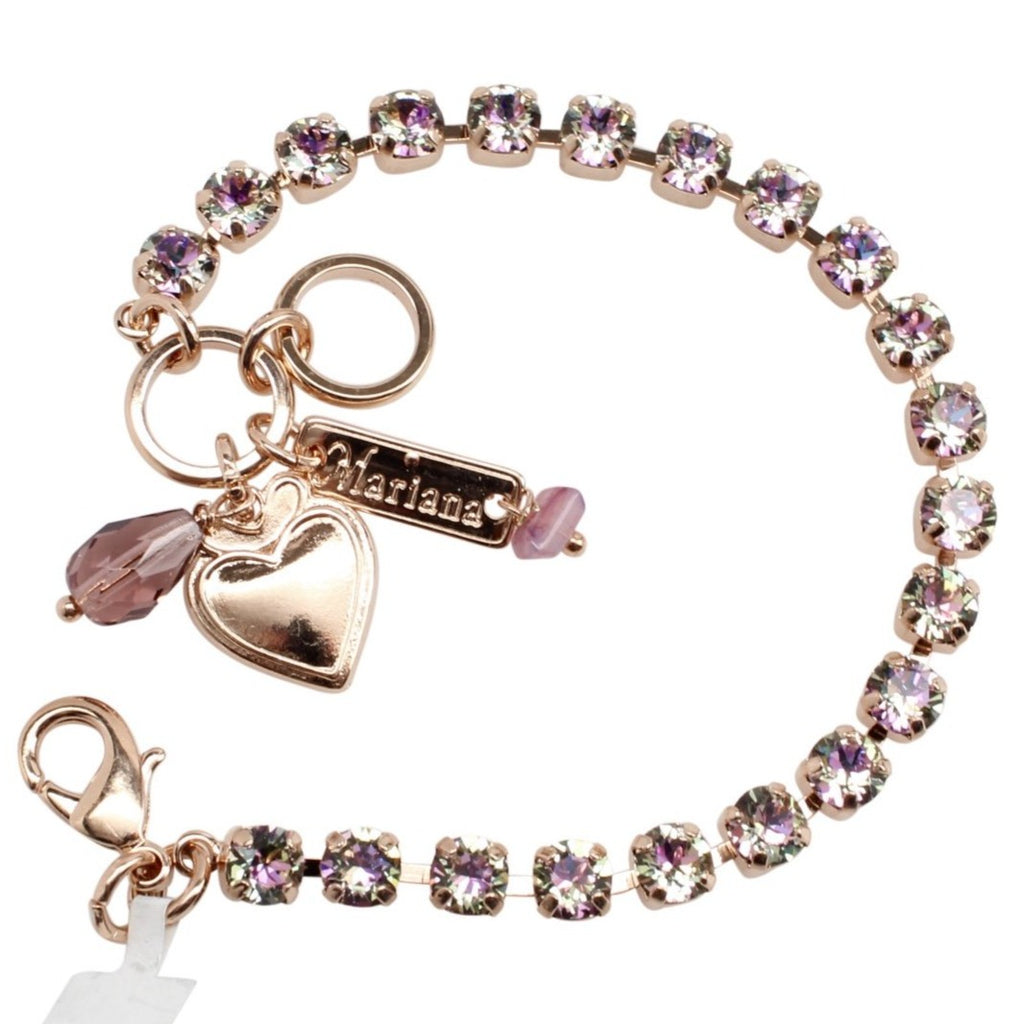 Vitral Light Petite Crystal Bracelet in Rose Gold