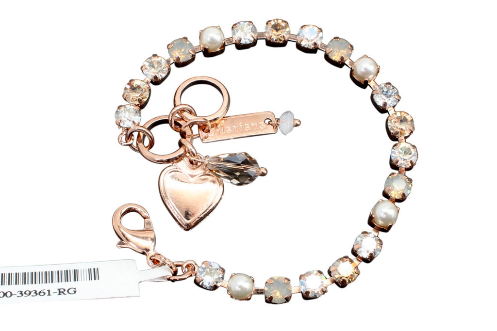 Seashell Collection Petite Crystal Bracelet in Rose Gold