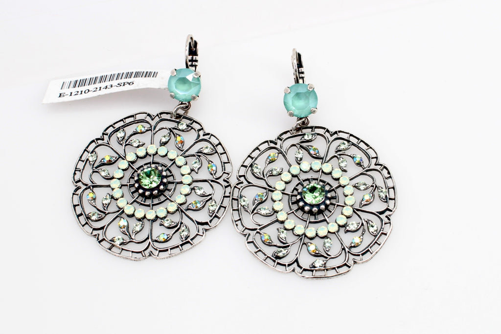 Fern Collection Large Round Filigree Earrings