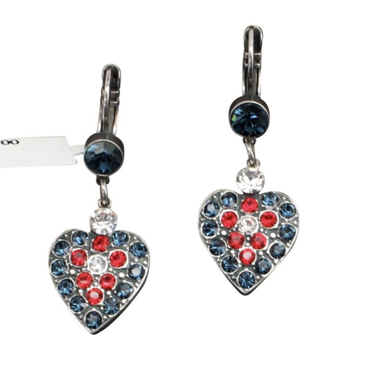 Patriot Collection Heart Shaped Earrings
