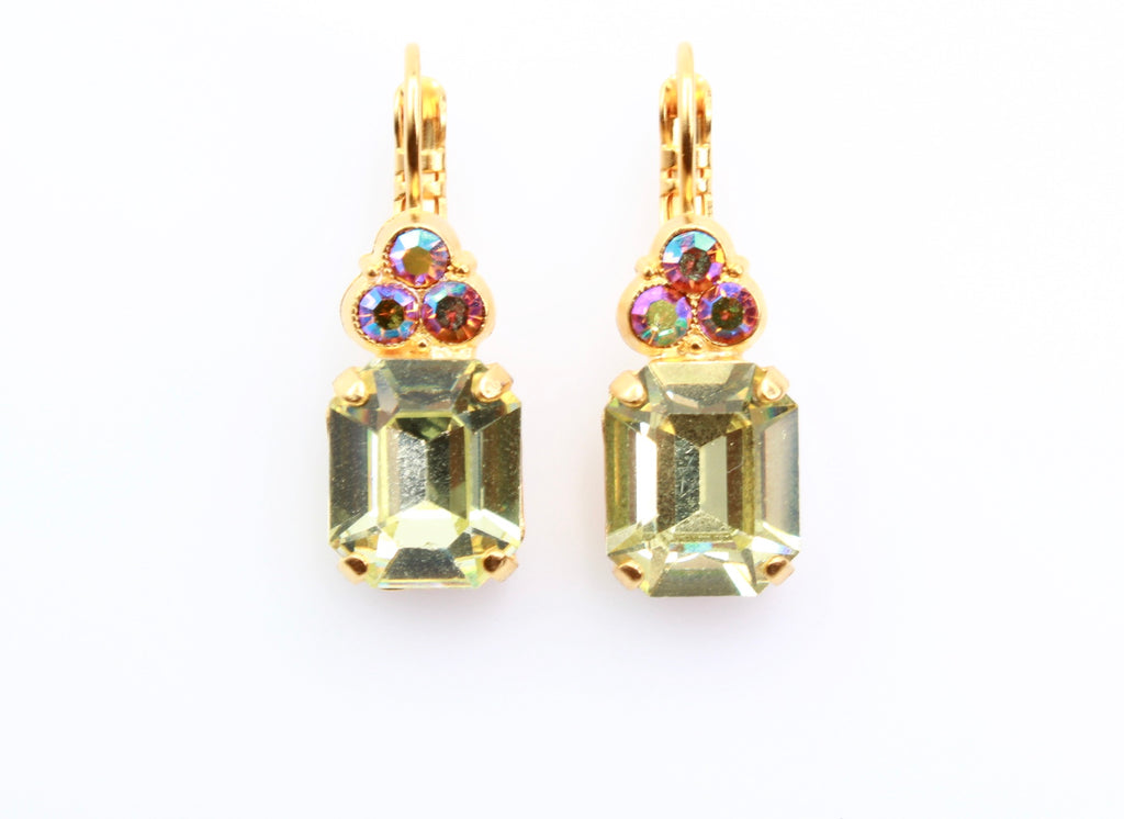 Yellow Brick Road Rectangular w/accent Earrings in Yellow Gold