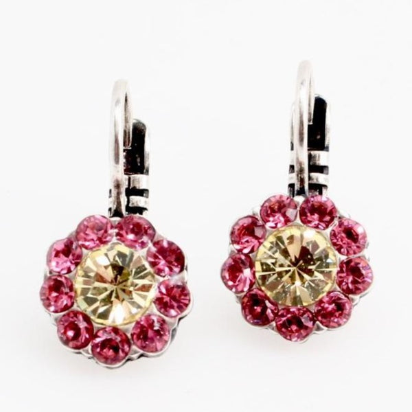 Spring Flowers Small Crystal Flower Earrings