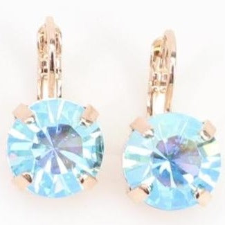Sapphire AB 11 MM Earrings in Rose Gold