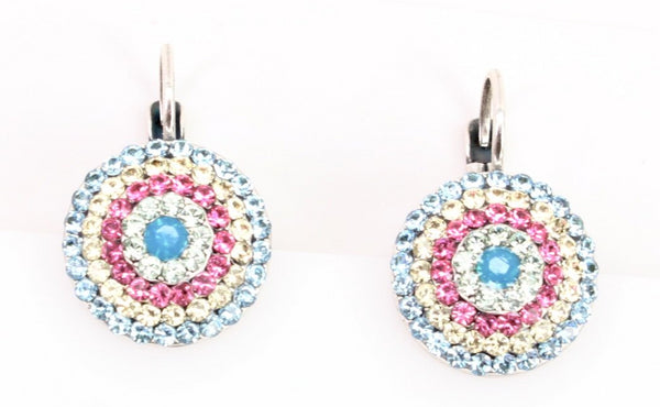 Spring Flowers Collection Round Multi-Crystal Earring