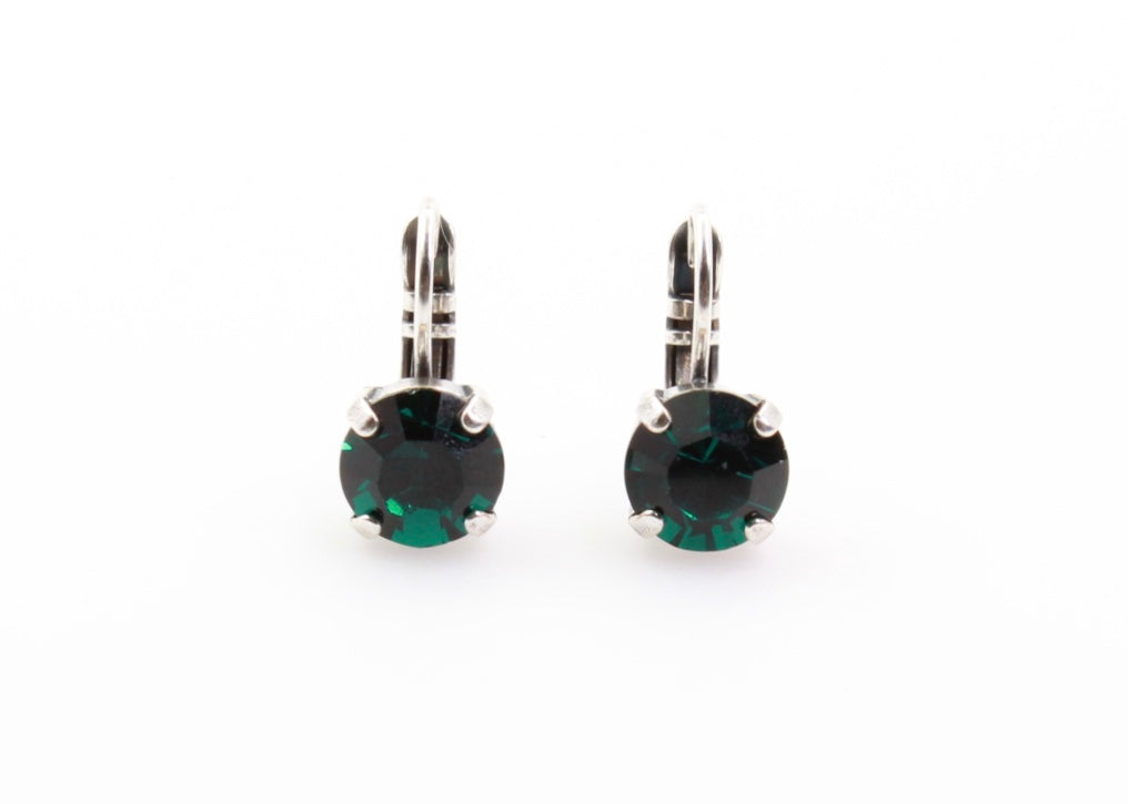 Emerald Green 8.5MM Crystal Earrings