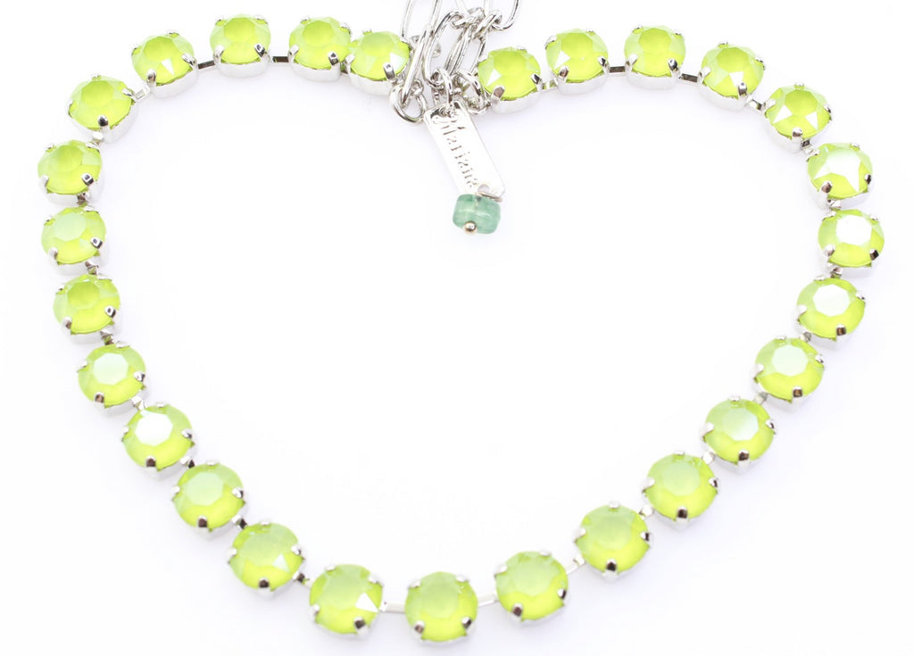 Olivine Frost Sparkly Medium Crystal Necklace