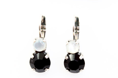 Blizzard Collection Double Crystal Earrings