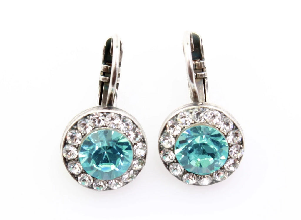 Frost Collection Round Crystal Earrings
