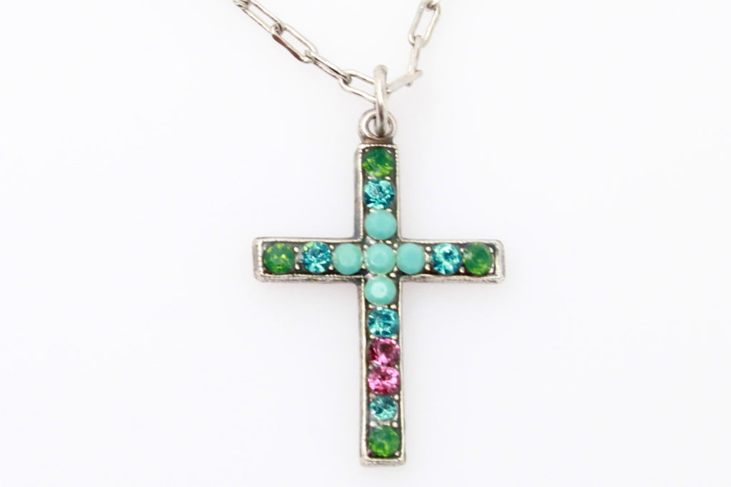 Inspire Collection Petite Crystal Cross Necklace
