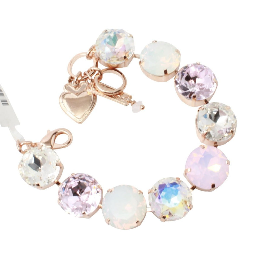 Snowflake 15MM Extra Large Crystal Bracelet in Rose Gold