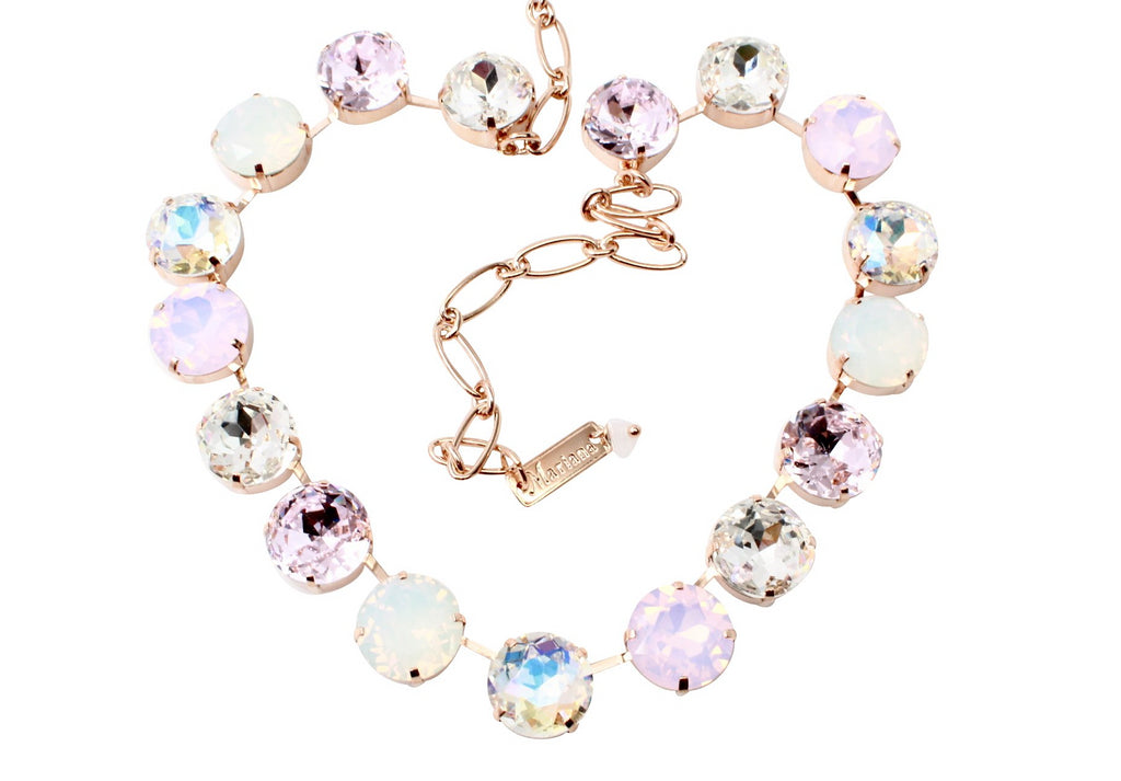 Snowflake Collection Extra Large 15MM Crystal Necklace in Rose Gold