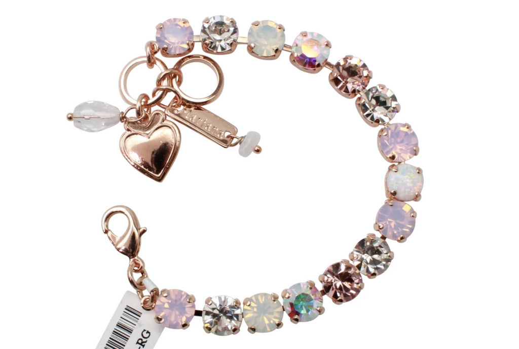 Snowflake Collection Must Have Crystal Bracelet in Rose Gold