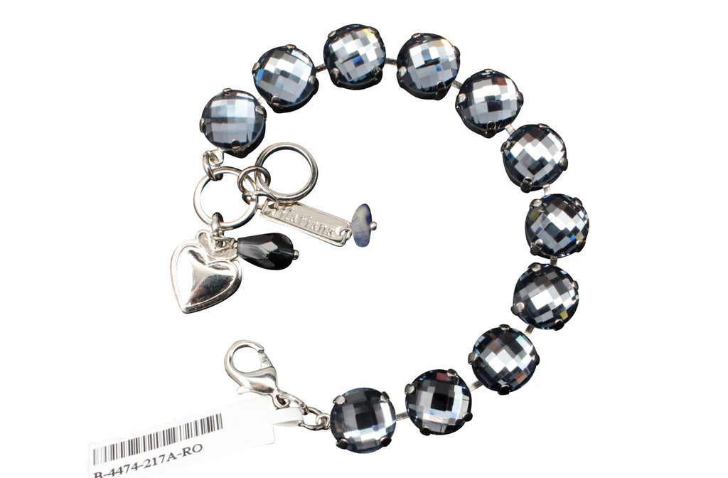 Indian Sapphire Checkerboard Cut 11MM Large Crystal Bracelet