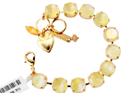 Yellow Glitter Crystal Bracelet in Gold