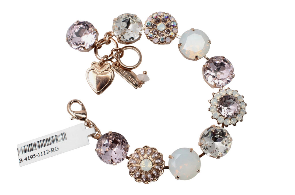 Snowflake Collection 15MM Crystal Bracelet in Rose Gold