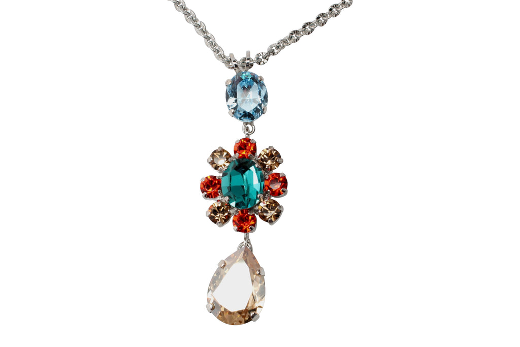 Tinsel Collection Flower Pendant Necklace