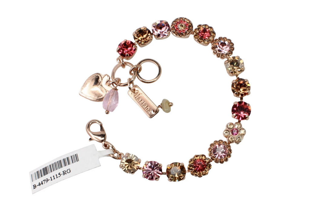 Gingerbread Collection 8.5MM Flower Bracelet in Rose Gold