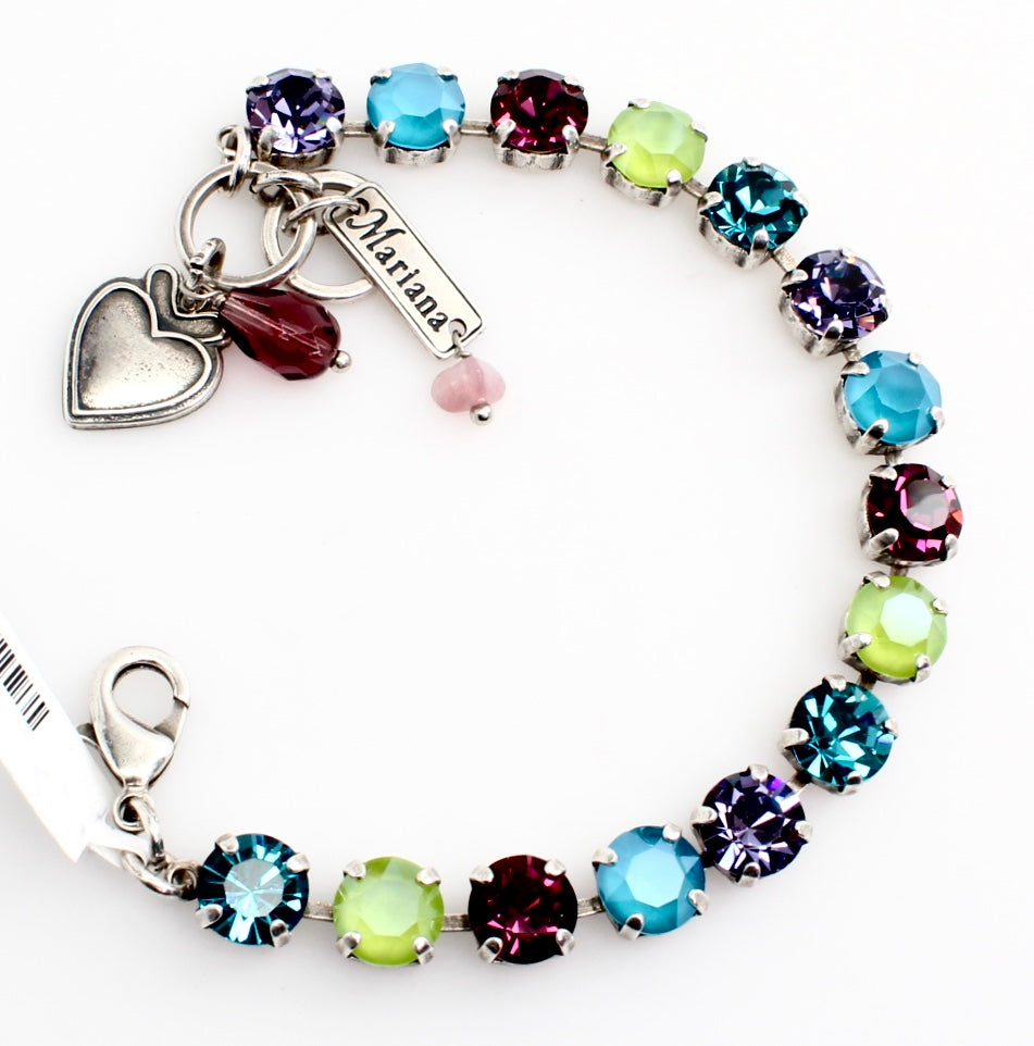 Peacock Medium Crystal Bracelet