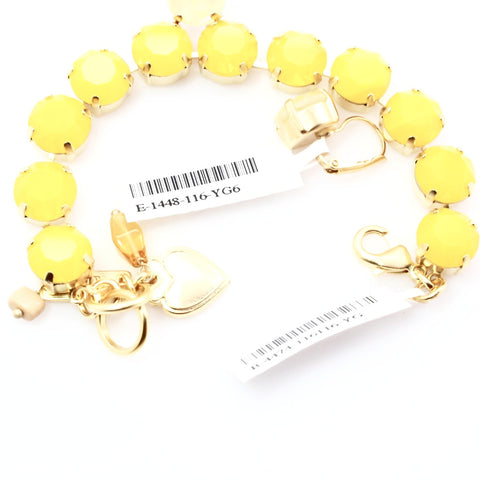 Yellow Opal Large Crystal Bracelet in Yellow Gold