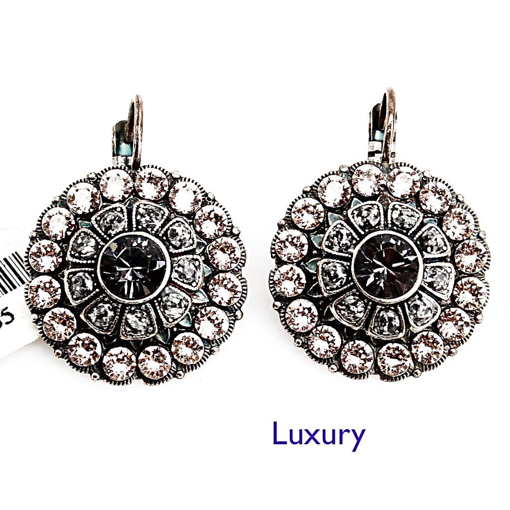 Luxury Collection Large Round Crystal Earrings