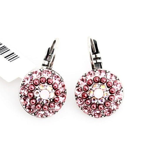 Antigua Collection Multi Crystal Round Earrings