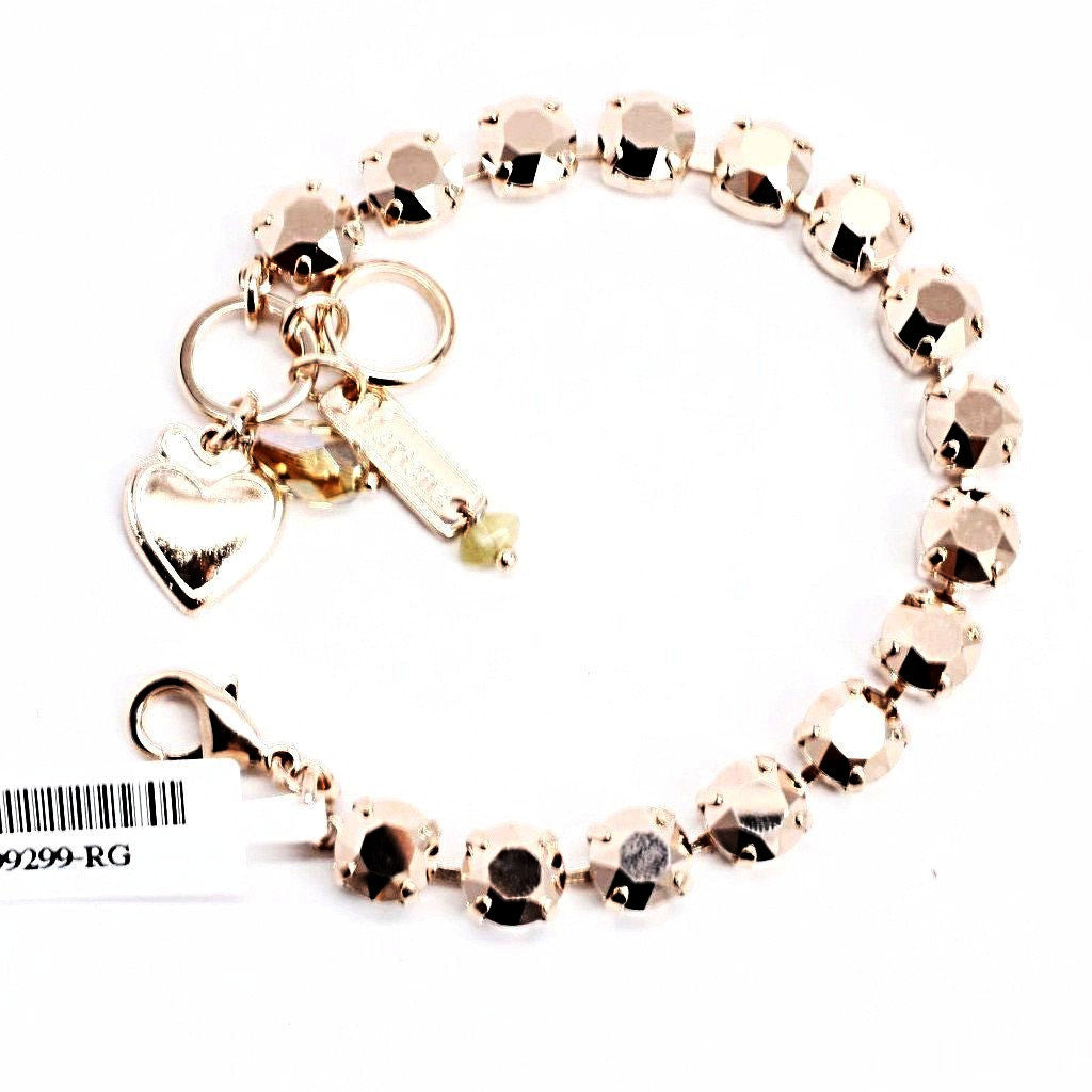 Rose Gold Medium Crystal Bracelet in Rose Gold