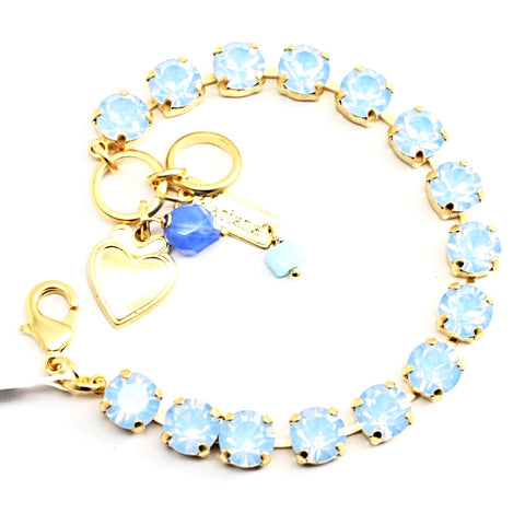 Air Blue Opal Medium Crystal Bracelet in Yellow Gold