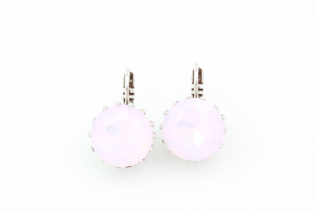 Rosewater Opal Round Crystal Earrings