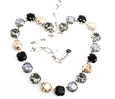 Adeline 12MM Square Crystal Necklace