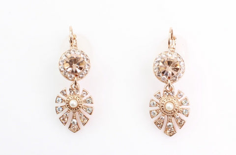 Barbados Collection Long Ornate Crystal Earrings