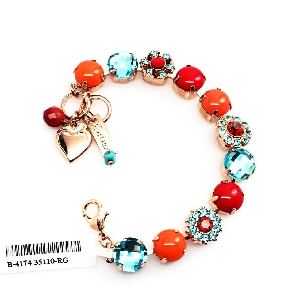 Gypsy Soul Collection Crystal Bracelet in Rose Gold