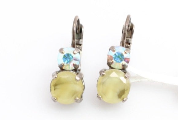 Coco Collection Medium Double Crystal Earrings