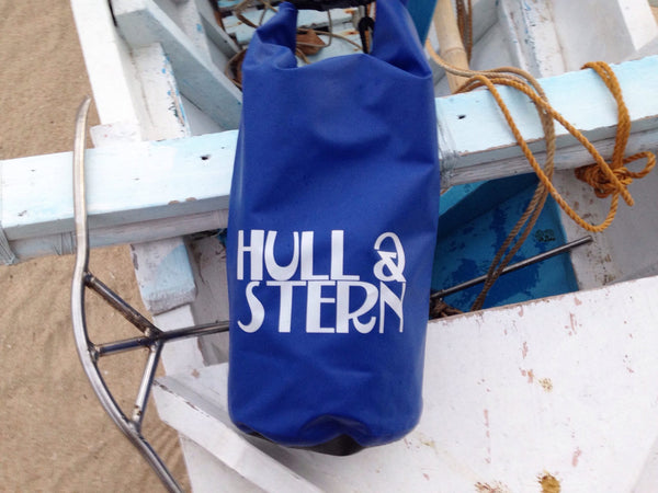 Hull & Stern Adventure Dry Bag Size 10L in Sail Away Blue Classic