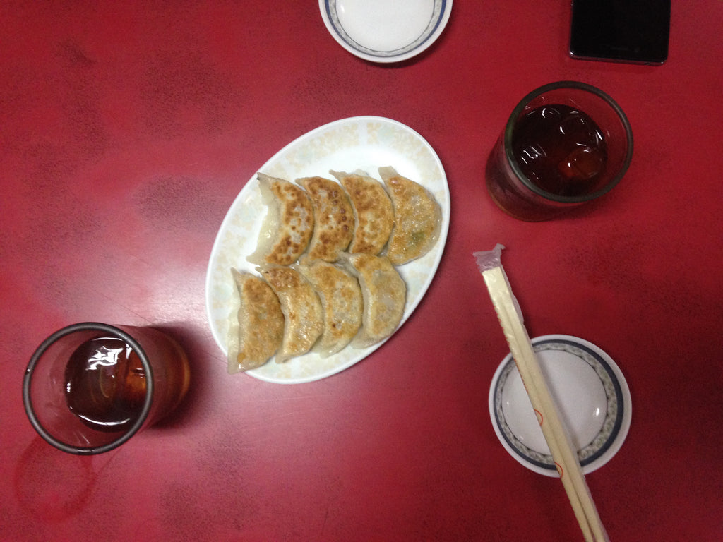 Gyoza and Tea at Ramen Ichiban-kan