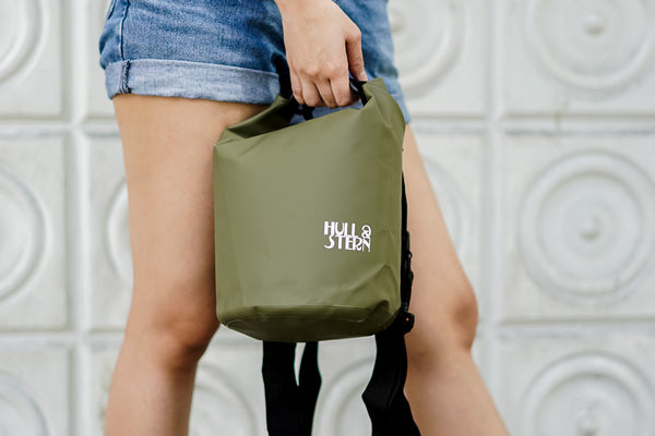 HULL STERN Adventure Dry Bag Size 5L in Forest Green Backpack