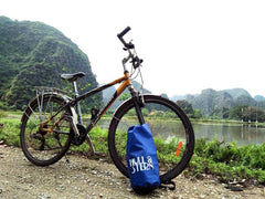 Hull & Stern Dry Bag with Bike in Hanoi, Vietnam