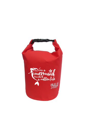 [LIMITED EDITION: Mermaid in a Million] Adventure Dry Bag Size 5L in Baywatch Red